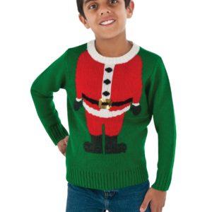 Child Santa Head Ugly Christmas Sweater