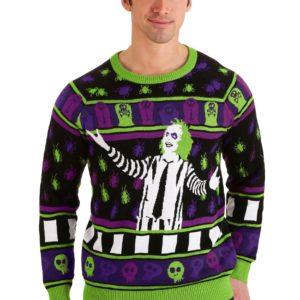Adult Beetlejuice It's Showtime! Halloween Sweater