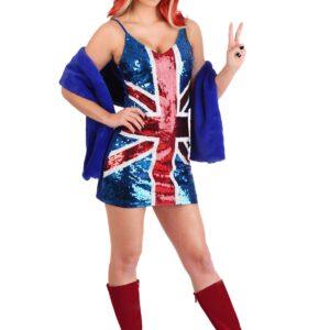 British Girl Power Popstar Costume for Women