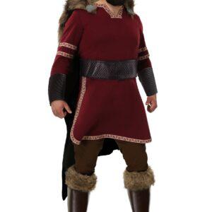 Plus Size Burgundy Viking for Men
