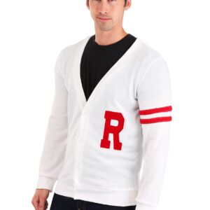 Deluxe Grease Rydell High Men's Plus Letterman Sweater