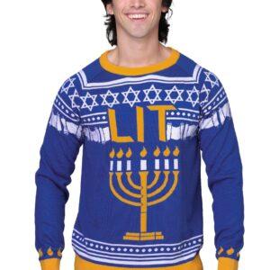Hanukkah Menorah Ugly Holiday Sweater