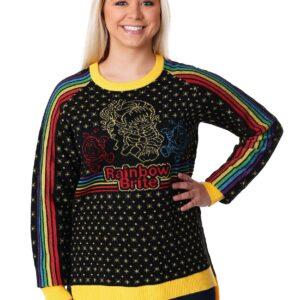Hi-Lo Women's Rainbow Brite Ugly Christmas Sweater