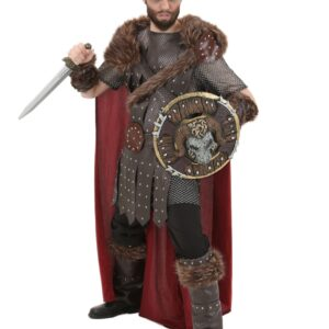 Men's Plus Size Legendary Viking Warrior Costume