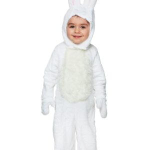 Open Face White Bunny Toddler Costume | Snow Bunny Costume
