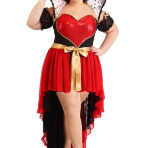 Plus Size Sparkling Queen of Hearts Women's